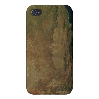 Satellite view of South Africa iPhone 4 Cases