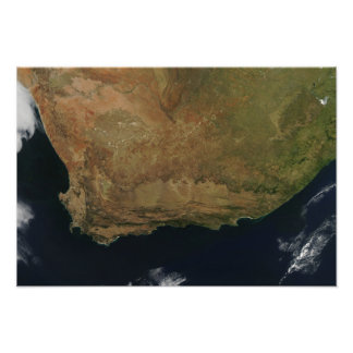 Satellite view of South Africa Photo Print