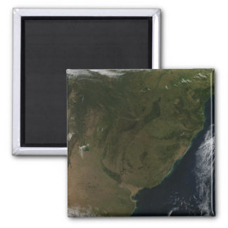 Satellite view of South America Magnet