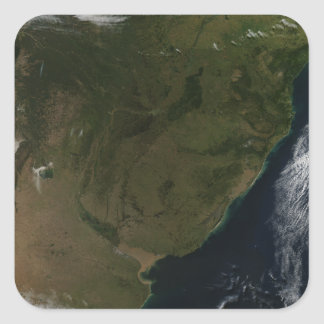 Satellite view of South America Square Sticker