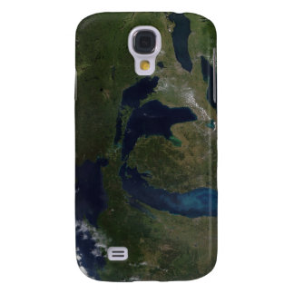 Satellite view of The Great Lakes Galaxy S4 Case