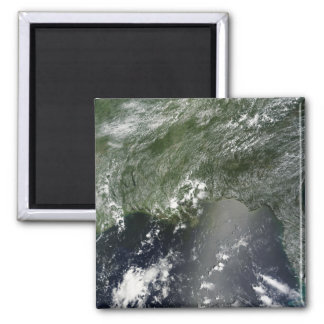 Satellite view of the Gulf of Mexico 2 Square Magnet