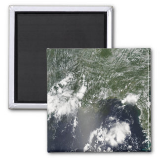 Satellite view of the Gulf of Mexico Square Magnet