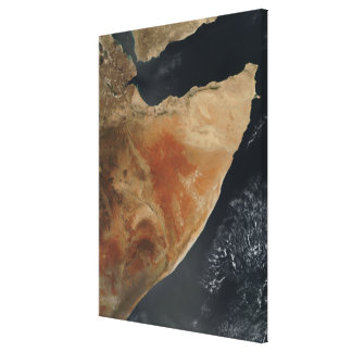 Satellite view of the Horn of Africa Canvas Print