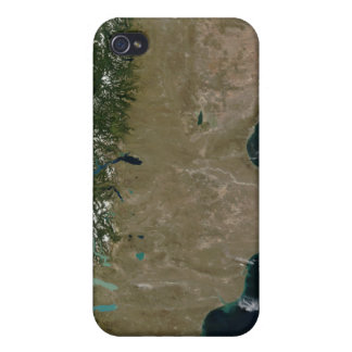 Satellite view of the Patagonia region Case For iPhone 4