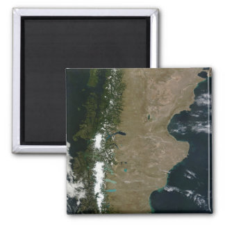 Satellite view of the Patagonia region Magnet