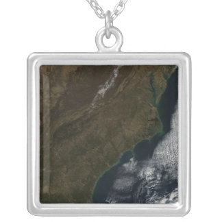 Satellite view of the Southeastern United State Silver Plated Necklace