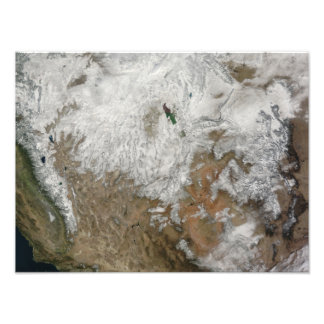 Satellite view of the western United States Photo Print