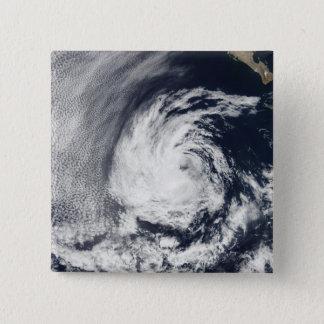 Satellite view of Tropical Depression Blas 15 Cm Square Badge