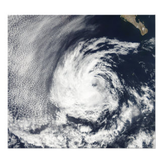 Satellite view of Tropical Depression Blas Photo Print