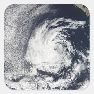 Satellite view of Tropical Depression Blas Square Sticker