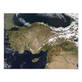 Satellite view of Turkey Art Photo