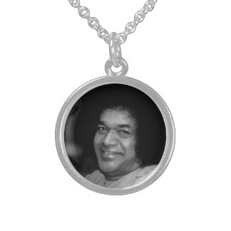 Sathya Sai Baba on Sterling Silver Necklace