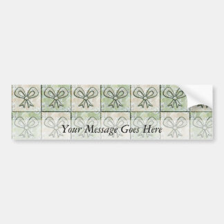 Satin and Floral Bows Car Bumper Sticker