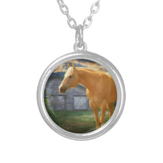 Satin, Blue Barn necklace