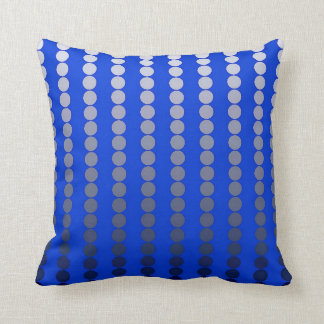 Satin dots - cobalt blue and pewter cushion