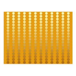 Satin dots - gold and mustard postcard