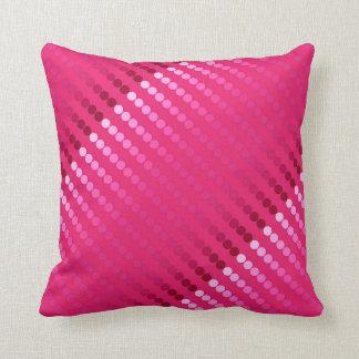 Satin dots - shades of fuchsia pink throw pillow