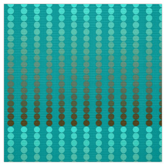 Satin dots - turquoise and pewter gray fabric