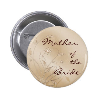 Satin Elegance Mother of the Bride 6 Cm Round Badge
