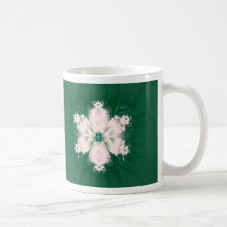 satin flower mugs