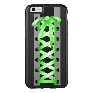 Satin Green Laces OtterBox iPhone 6/6s Plus Case