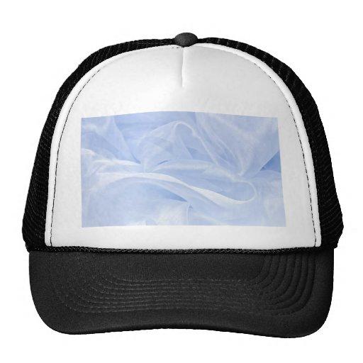 satin ice blue silk elegant chic textile pattern trucker hat