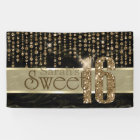 Satin Jewel Sweet Sixteen Black Gold ID260 Banner