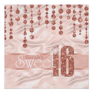 Satin Jewel Sweet Sixteen Rose Gold ID260