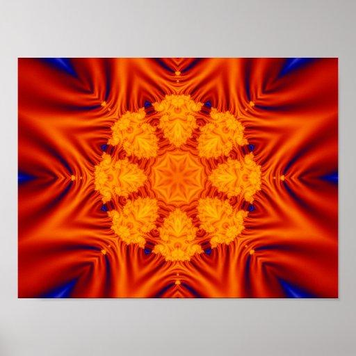 Satin Kaleidoscope Print