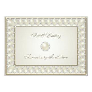 Satin Pearl 30th Wedding Anniversary 5x7 Invite