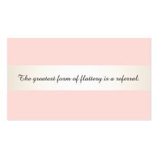 Satin Stripe Pink Beauty Salon & Spa Referral Card Pack Of Standard Business Cards