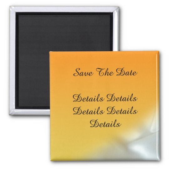 Satin Summer Sun Save The Date Wedding Magnet