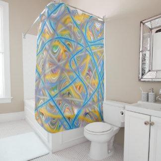 Satin Waves 71x71 Shower Curtain