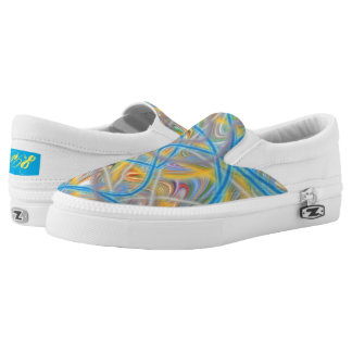 Satin Waves Printed Shoes