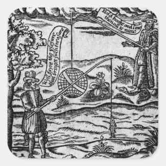 Satire of Fishing, 'A Book Roxburghe Ballads' Square Sticker