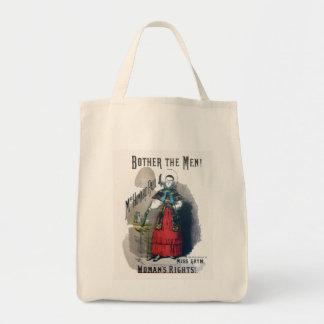 Satire Women's Movement Vintage Cartoon1878 Canvas Bags