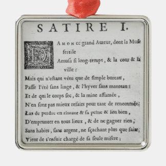 'Satires' by Nicolas Boileau Christmas Ornament