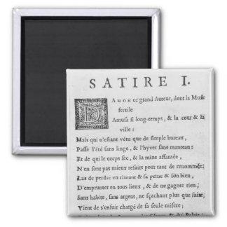'Satires' by Nicolas Boileau Magnet