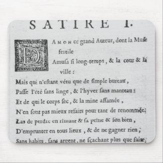 'Satires' by Nicolas Boileau Mouse Mat
