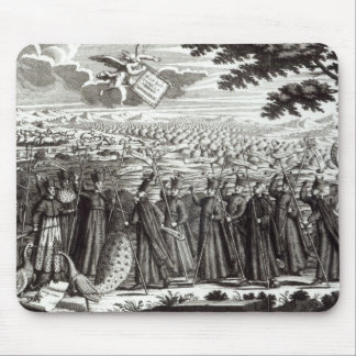 Satirical engraving depicting the Bull Mouse Mat
