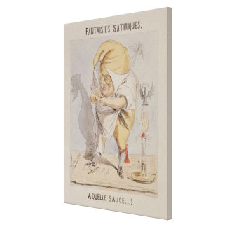 Satirical Fantasies, caricature of Adolphe Canvas Print