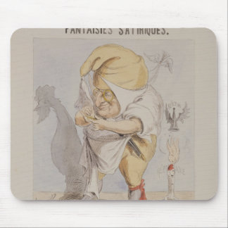 Satirical Fantasies, caricature of Adolphe Mouse Pad