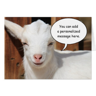 Satisfied Goat Greeting Card