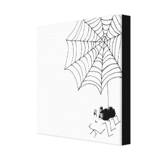 Satisfied Spider Canvas Prints
