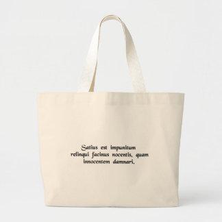 Satius est impunitum relinqui facinus nocentis.... tote bags