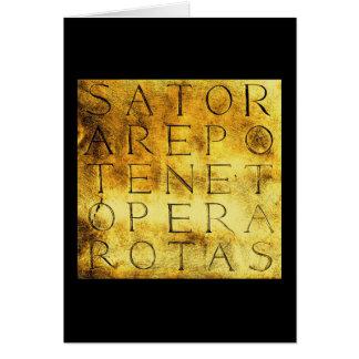 Sator Rotas Ancient Secret Magical Symbol Card