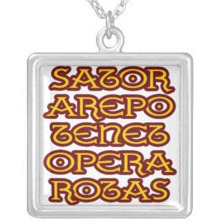 sator square square pendant necklace