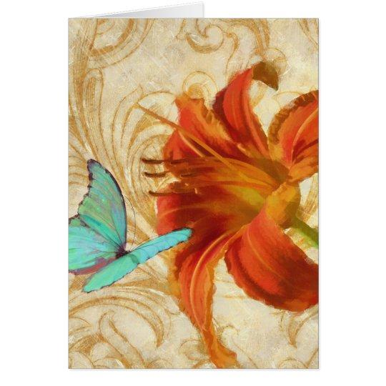 Satsuma day lily 1 Greeting card