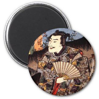 Satsuma Taira Tadanori for Suzumushi 6 Cm Round Magnet